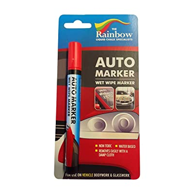 Car Paint Marker Pens Auto Writer Red - All Surfaces, Windows, Glass, Tire, Metal - Any Automobile, Truck or Bicycle, Water Based Wet Erase Removable Markers Pen: Home & Kitchen