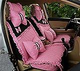 YAOHAOHAO Auto mode of beautiful lace fabric seat cover Universal Car Seat cushion before rear &