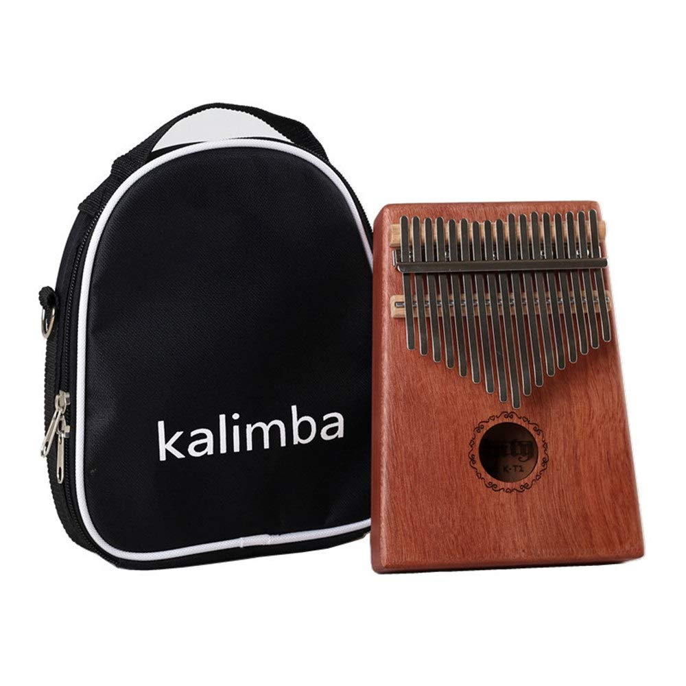 Thumb Piano Portable 17 Keys Kalimba Thumb Piano Standard C Tune Finger Piano Mahogany Wood Body Metal Tines With Tuning Hammer Carry Case African Musical Instrument Kids Gifts Best Gifts For Adult an by Canyixiu-inmu