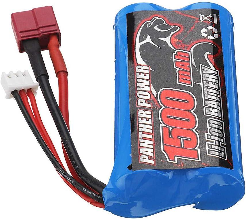 ETbotu Batteria RC,Batteria Remo 7.4V 1500mAh Lipo Comaptible With 1631 1651 1621 1635 1625 1//16 RC Car T Plug