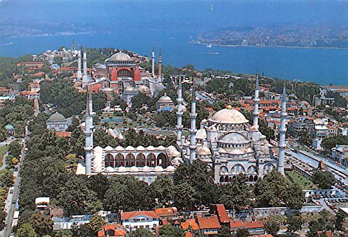 Blue Mosque and Towards St Sophia Istanbul Turkey Postcard