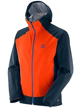 Salomon La Cote Stretch 2.5L Chaqueta, Hombre, Naranja (Vivid Orange / Big Blue-X), L: Amazon.es: Deportes y aire libre