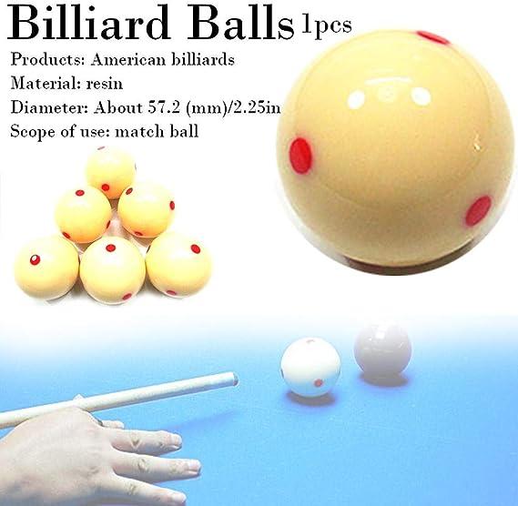 AITOCO Bola de señal de Billar Blanca con Puntos Rojos, Mesa de Billar de Snooker Bola de señal de Punto de Entrenamiento: Amazon.es: Hogar