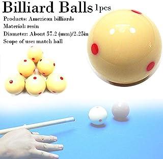 AITOCO Weißer Billard-Spielball mit roten Punkten, Snooker-Billardtisch, der Spot-Spielball bildet
