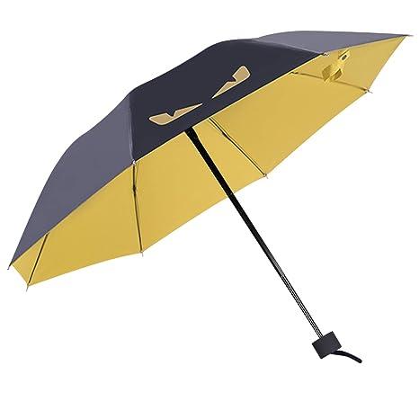 DORRISO Plegable Paraguas Mini Mujer Hombres Sombrilla y Resistente al Viento Impermeable Cute Animados Estudiantes Ligero