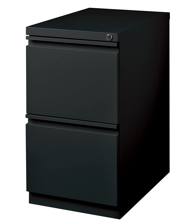 Black Office Dimensions Commercial Grade 20  Deep 2 Drawer Mobile Metal Pedestal File Cabinet, White