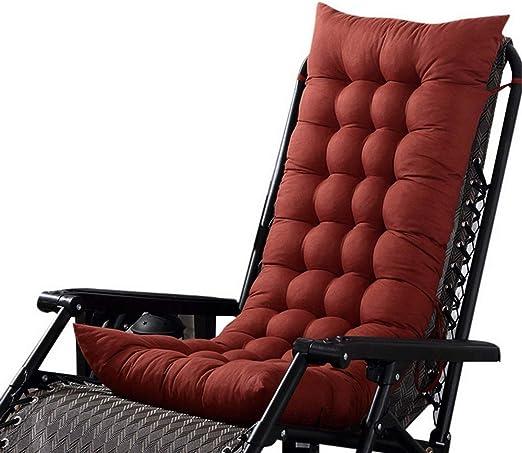 Marbeine - Cojín de Asiento para sillas, sillones o tumbonas de jardín, terraza Gruesa para Exterior, Funda de 125 x 48 x 8 cm, café: Amazon.es: Jardín
