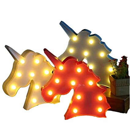 Cabeza Unicornio La Noche Animalled De Lindo Llevó Luz kTXPZOiu