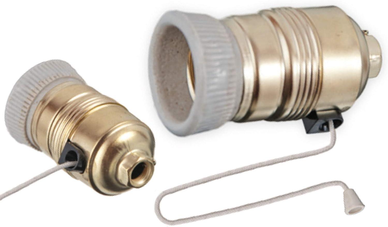 Portalámparas E27con cordón Interruptor de cordón cuerda Interruptor Tren Capacidad de lámpara LED