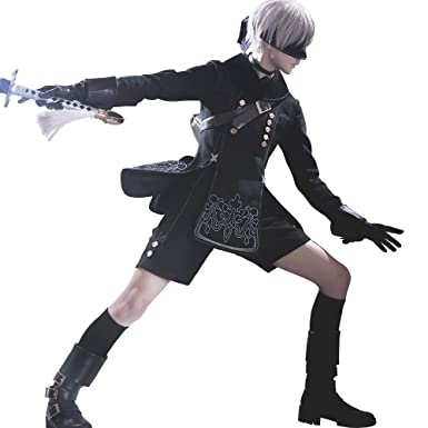 1/3 Delusion NieR Automata 9s Cosplay Costume Wig (S)