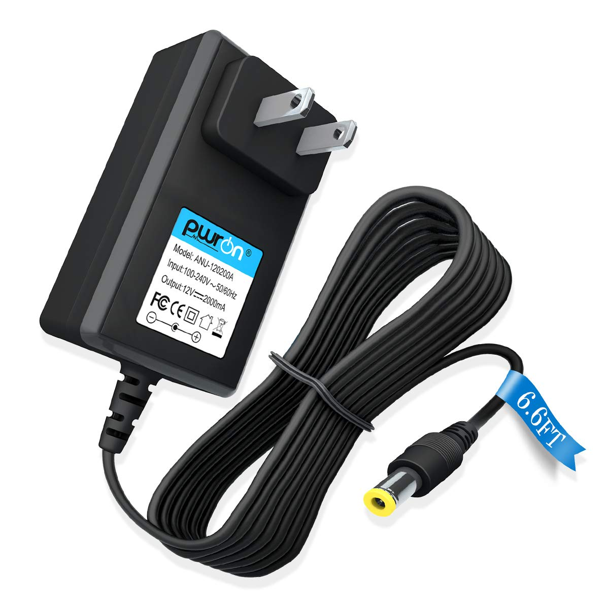 PwrON 12V AC Adapter Compatible with Sony BDP-BX BDP-S Series Blu-ray Disc DVD Player BDP-BX120 BDP-BX520 BDP-BX350 BDP-BX670 BDP-S1200 BDP-S1700 BDP-S3700 BDP-S3200 BDP-S6700, PN: AC-M1208UC