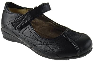 739b6a62ba6aa0 Lucita KK-016KM Little Girls Mary Jane Buckle School Shoes Black 9