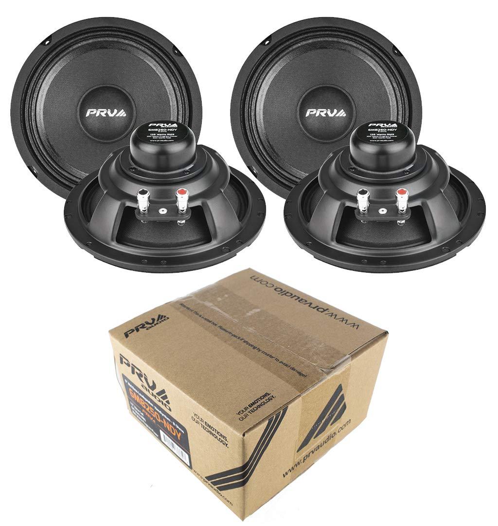 (4) PRV Audio 6MB250-NDY 6'' Neodymium Mid bass Range Loud Speaker 8-ohm 1000W 2 Pair