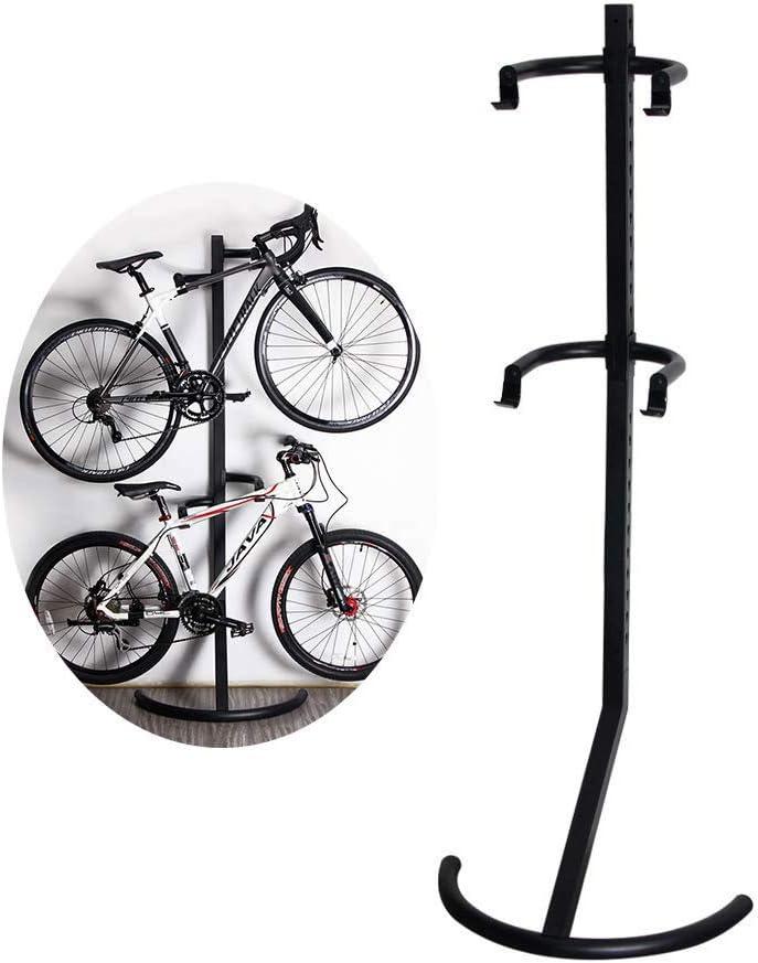 ZNN Soporte para portabicicletas - Bicicleta de Interior Vertical Vertical Pared Gravity Parking Rack Herramienta de Almacenamiento, Altura Ajustable, Resistente y Duradera, Fuerte Estabilidad: Amazon.es: Hogar