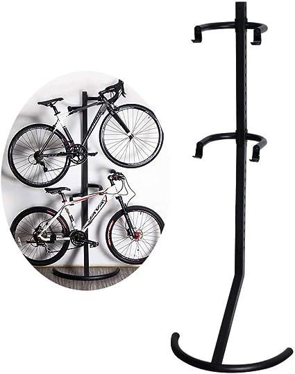 ZNN Soporte para portabicicletas - Bicicleta de Interior Vertical Vertical Pared Gravity Parking Rack Herramienta de Almacenamiento, Altura Ajustable, ...