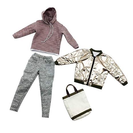 6c84db995efcb8 MagiDeal 1 6 Scale Men s Fashion Clothes   Bag for 12