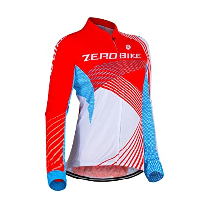 9d9c0d865 Image Unavailable. Image not available for. Color  ZEROBIKE Women s Long  Sleeve Cycling Jersey ...
