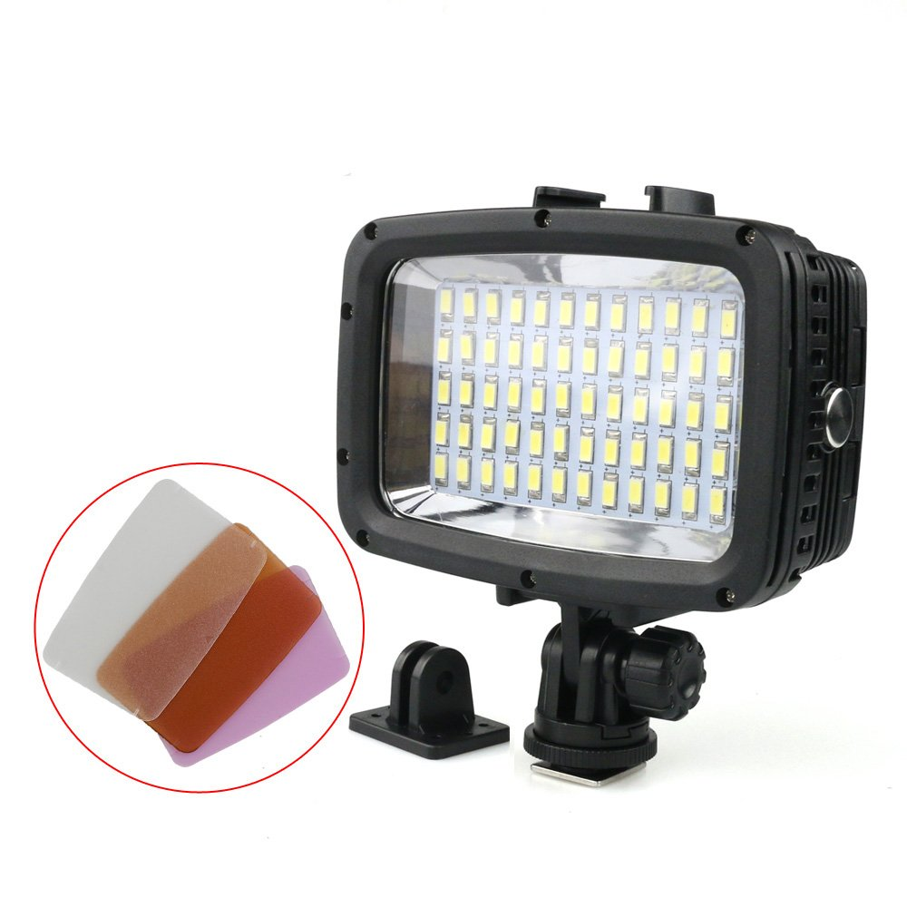 Polaroid Waterproof LED Light – Multi Mode Underwater Camera Light for Scuba, Deep Sea Diving - Compatible with Cameras and Underwater Housings