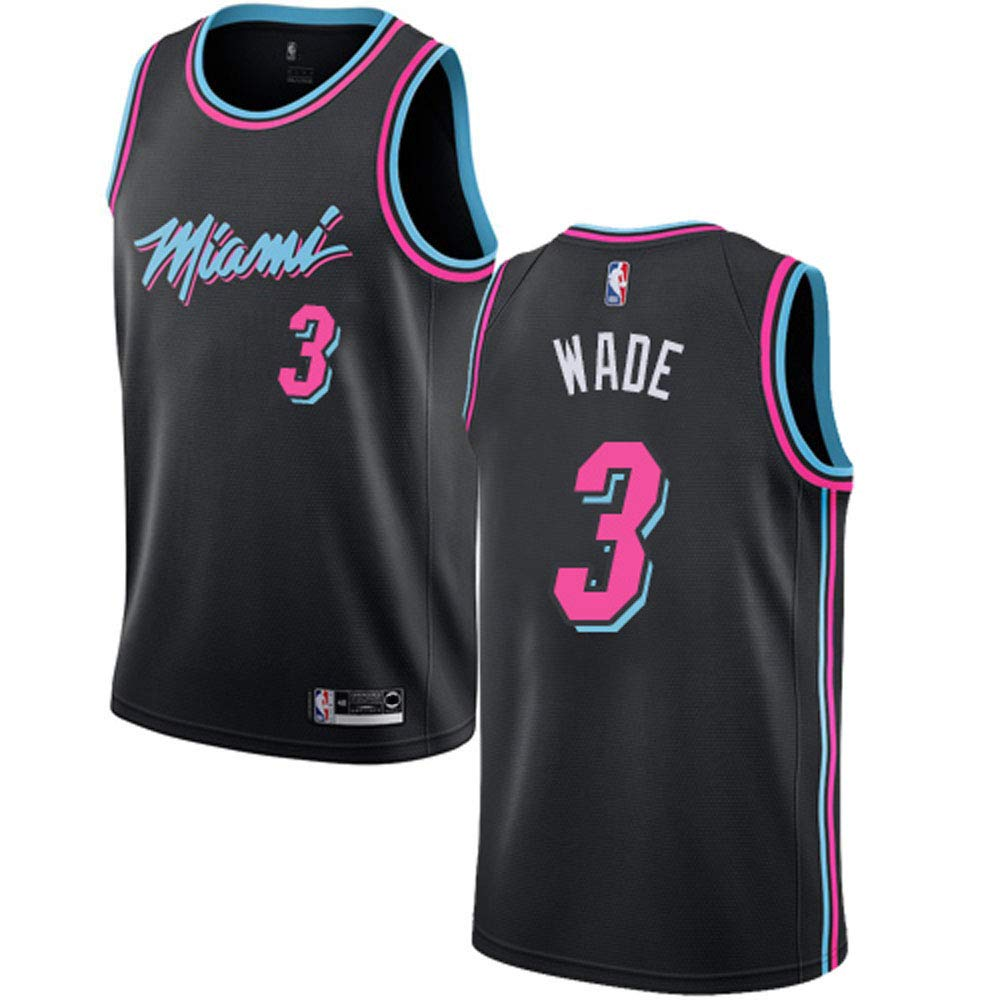 best website b2848 95e54 Mitchell & Ness Men's Miami Heat Dwyane Wade Swingman Jersey #3- Black