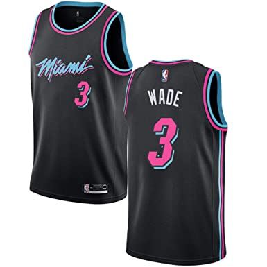 best website e3056 dd56b Mitchell & Ness Men's Miami Heat Dwyane Wade Swingman Jersey #3- Black