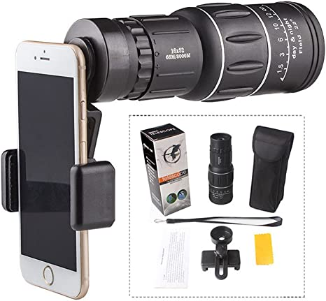 16 x 52 High Power monocular zoom telescópico mobile Cámara ...