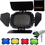 Godox BD-07 Barn Door with Detachable Honeycomb Grid and 4 Color Filters Dedicated for Godox AD200 AD200pro Outdoor…