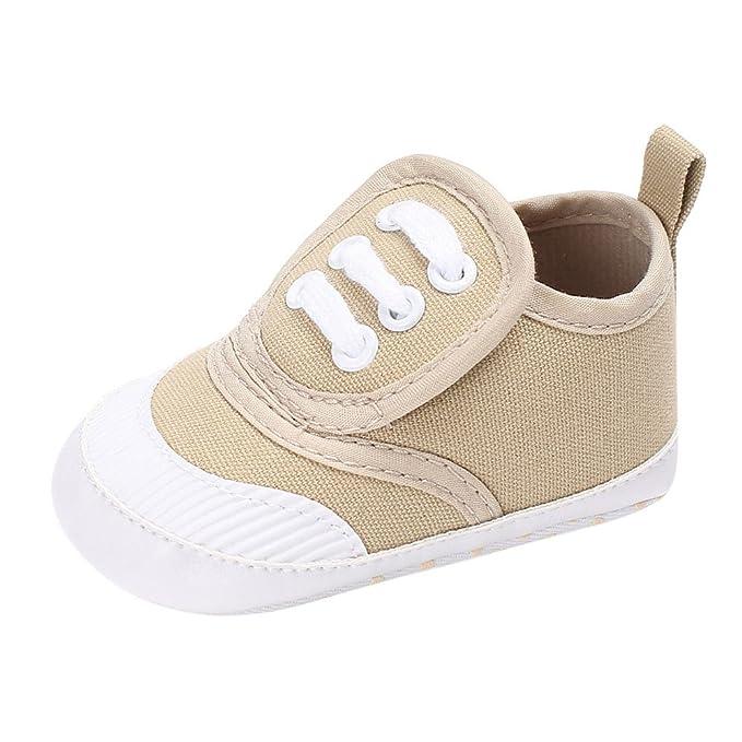 YanHoo Zapatos de bebé para niños pequeños Zapatos de bebé Boy Girl Cuna recién Nacida Antideslizante Zapatillas de Suela Suave Zapatillas de Deporte: ...
