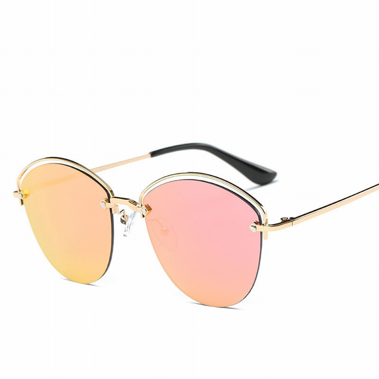 Unisex Sonnenbrille Farbe Linse Mode Frosch Gläser Goldrahmen ...