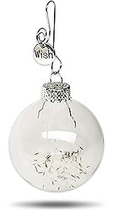Remember Making a Wish on a Dandelion ? Dandelion Seeds Keepsake Glass Globe Ornament Make a Wish Gift by Dorinta