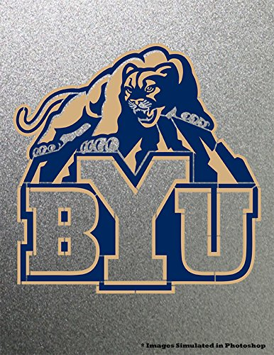 University Metal (BYU Brigham Young University Cougars Stencil Painting Logo Symbol Metal Art Painting NCAA)