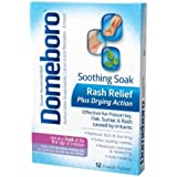 Domeboro Soothing Soak Rash Relief Powder Packets, 12 ea
