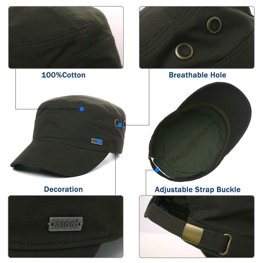 Womens Cotton Army Military Sun Radar Size 8 Combat Hat Men Large Head Baseball Cap XXL Green by Fancet (Image #4)