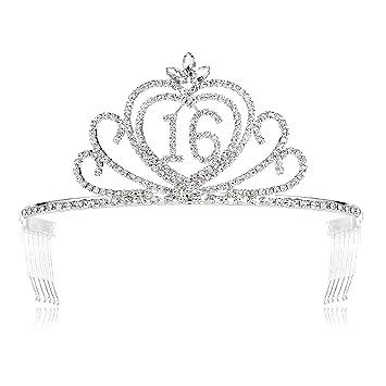 Silver Birthday Party Rhinestone Crystal Tiara Crown Sweet 70 Birthday Tiara