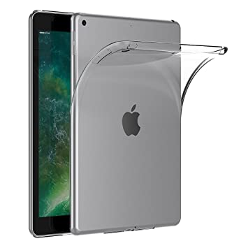 AICEK Funda iPad 9.7 2017, Transparente Silicona Fundas para iPad 9.7 2017 Carcasa iPad 2017 (9,7 Pulgadas) Silicona Funda Case