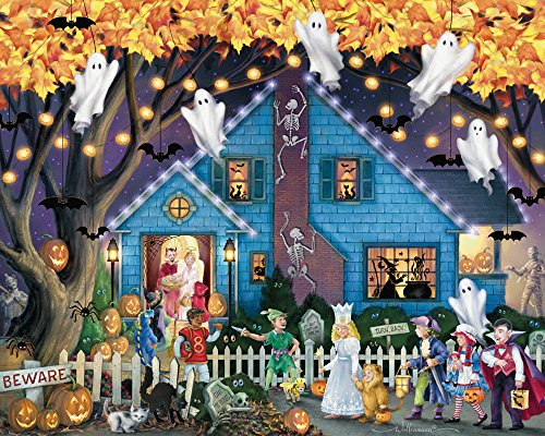 Vermont Christmas Company Ghostly Gathering Halloween Jigsaw Puzzle 1000 Piece -