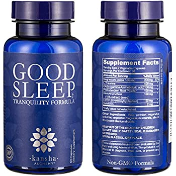 Natural Sleep Aid with Magnesium, Melatonin, L-Theanine and GABA with an Advanced Blend of Chinese Root Powders for a Deeper More Fulfilling Sleep 60 ...