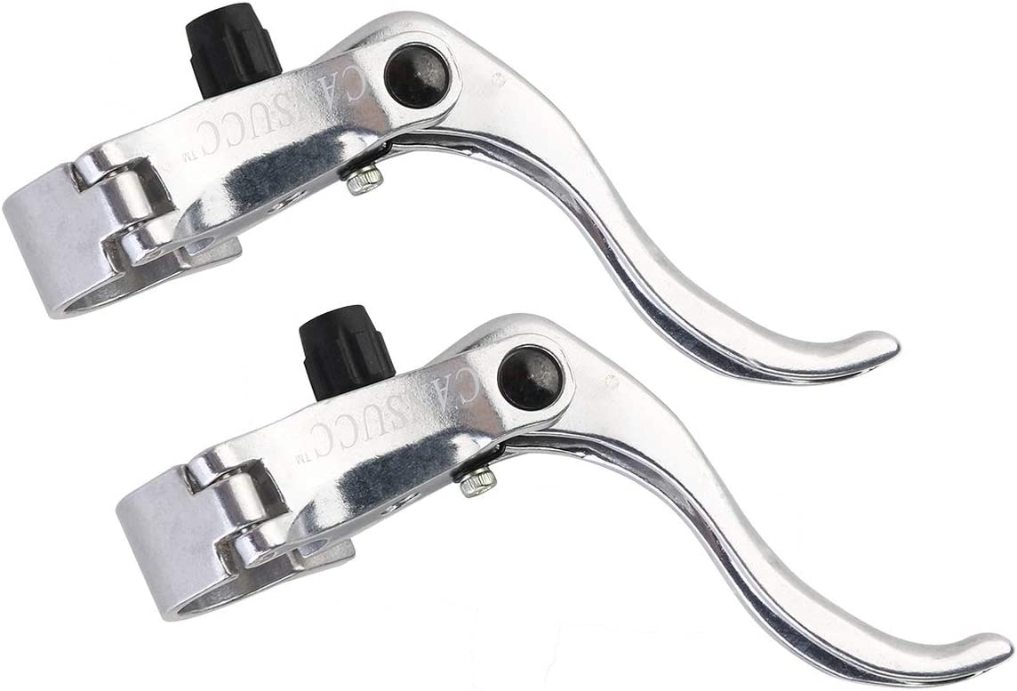 ULTECHNOVO Bicycle Brake Levers,Bike Fixed Gear Brake Handle Professional Bicycle Parts and Accessories Fit 22.2mm //24mm for Road/&Mountain Bike,BMX Silver