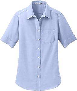 Port Authority womens Short Sleeve SuperPro Oxford Shirt (L659)