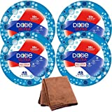 Dixie Ultra Disposable Paper Plates, 10 1/16 Inch, 45 Count, 4-Pack with Cleaning Cloth