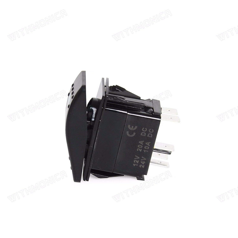 Can Am Commander FidgetGear Interruptor basculante de un Solo Polo para UTV Color Blanco