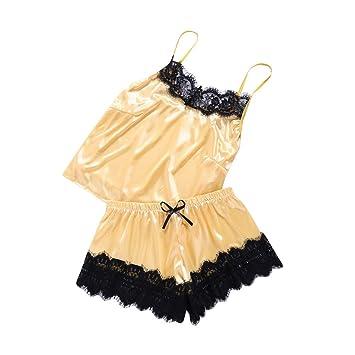 Charm Women Lace Lingerie Babydoll Nightwear Sleepwear 2PC Set Sling Pajamas