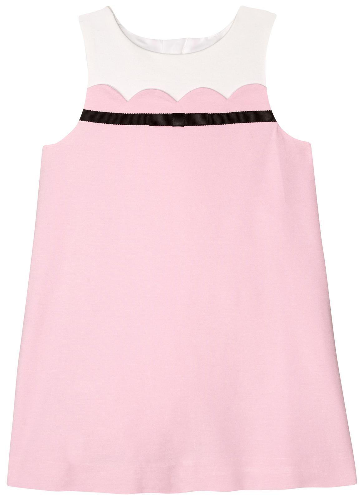 kate spade new york Girls' Scallop Dress, Cherry Blossom, 5 by Kate Spade New York