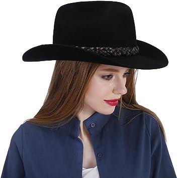 GHC Gorras y Sombreros Sombrero de Vaquero 100% Fieltro de Lana ...