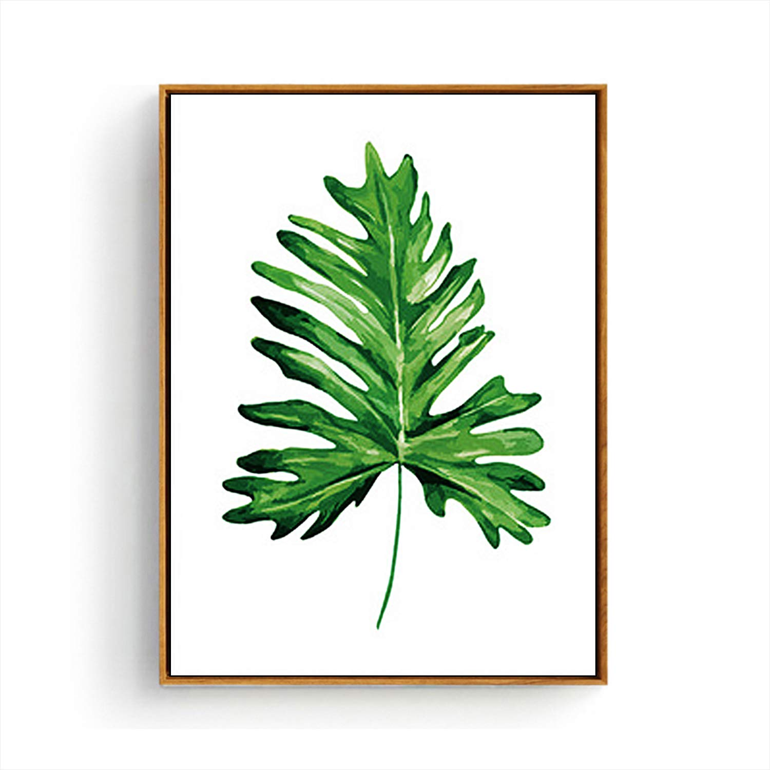 Hepix Canvas Wall Art Green Plants Tropical Leaves Wall Paintings Simple Botanical Print Framed Wall Pictures For Bedroom Bathroom Living Room Modern