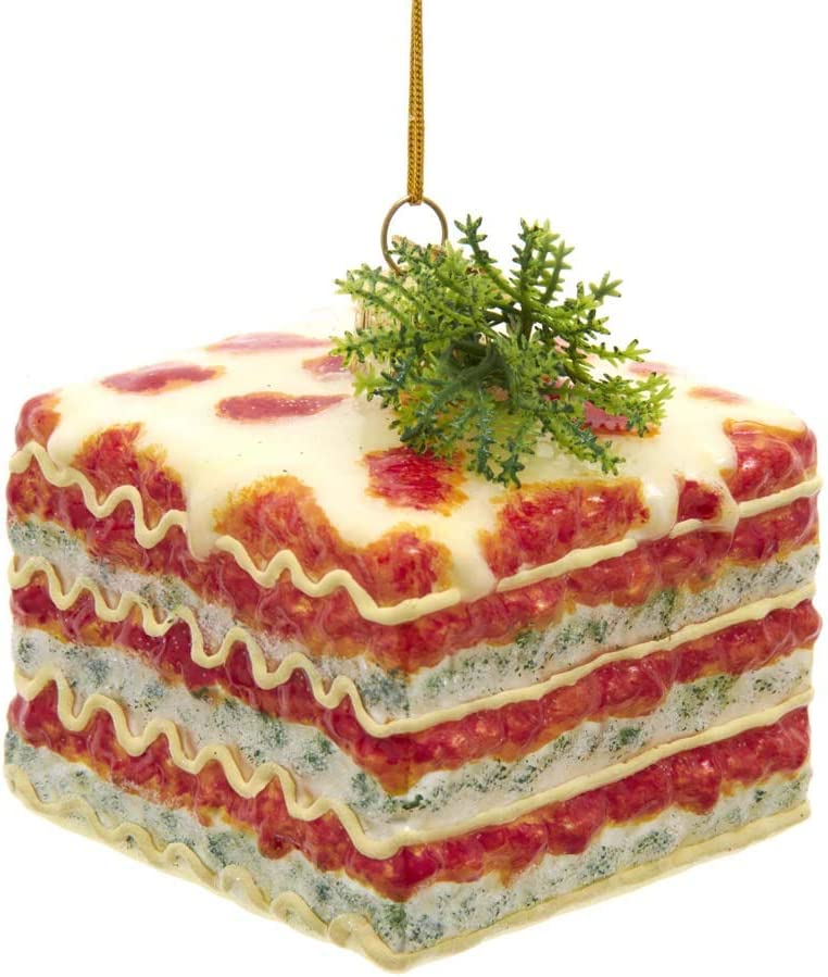Kurt Adler Noble Gems Food Lasagna Cheese Italian Christmas Tree Ornament Decor