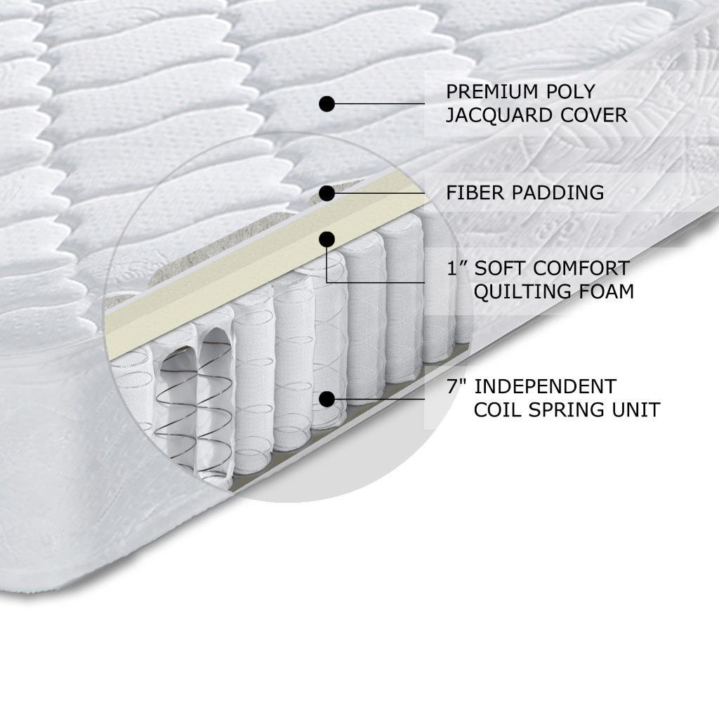 amazon com best price mattress 8 contour support pocketed coil