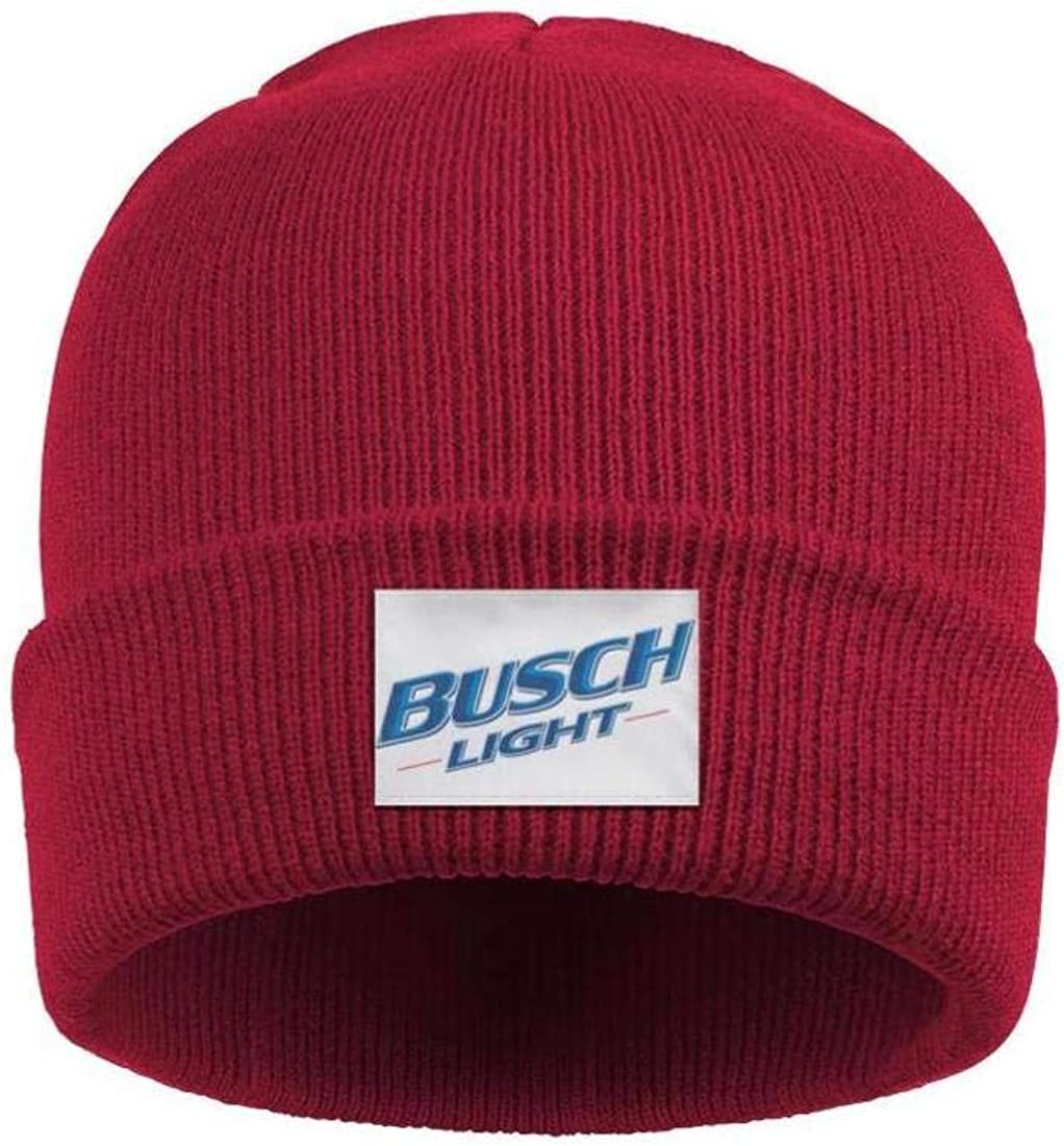 sknkdhgiJ Headwear for Mens Womens Thick Solid Color Busch-Light-Latte-Beer Beanies