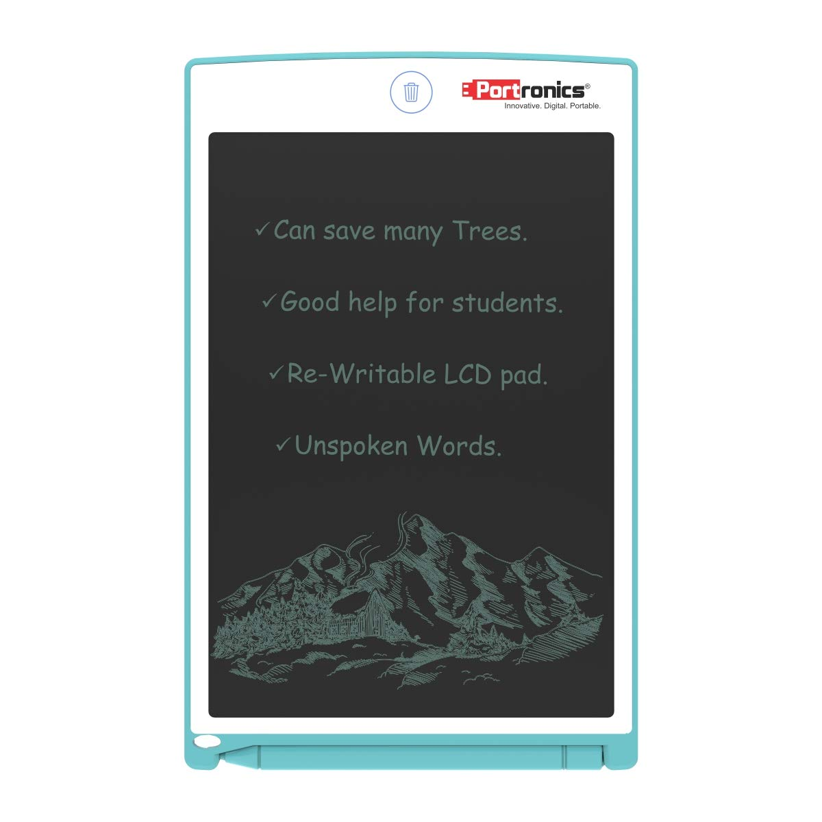 Portronics Portable RuffPad E-Writer (8.5-inch) LCD with 4 Magnet