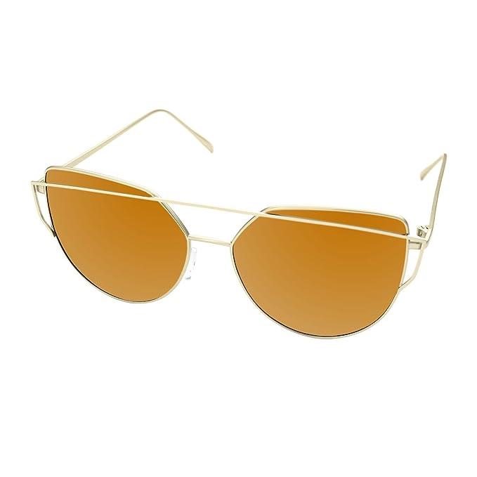 LooKLooK® Gafas de Sol de Moda Estilo Ojos de Gato para Mujer - Diseño  Fashion fd755239d8f2