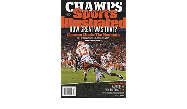 10f75dd43dfc2 Amazon.com  Clemson Tigers National Champs Sports Illustrated Poster -  Hunter Renfrow Catch  Home   Kitchen